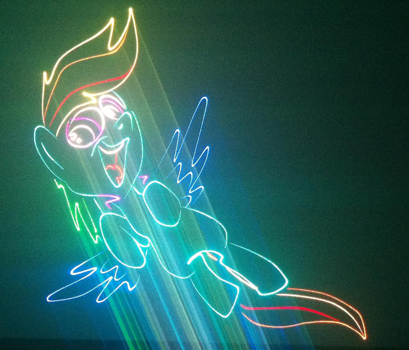Rainbow dash laser by LaserPon3