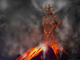 Alink the badass volcano god by apolline555