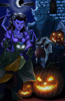 Gargoyles Halloween by HollyRoseBriar