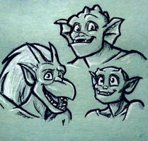Trio doodle by HollyRoseBriar