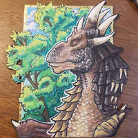 Draco ACEO Peaceful Day