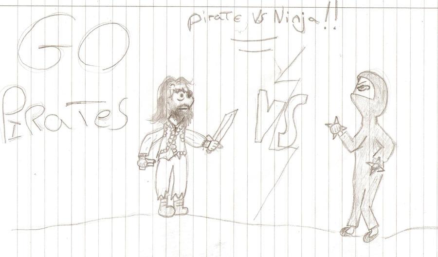 Pirate Vs Ninja by Holsmetree