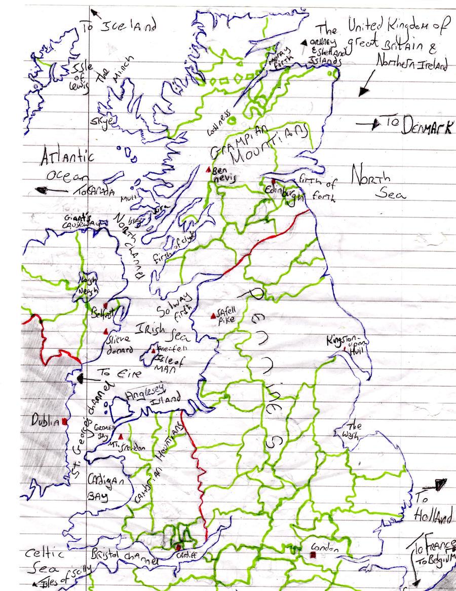 U.K. map by Holsmetree