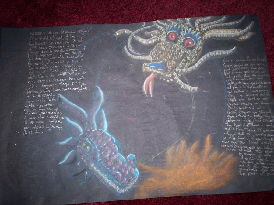 School work dragons by Holsmetree
