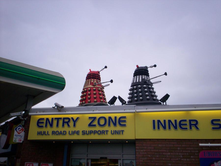 Daleks. Daleks on the roof by Holsmetree