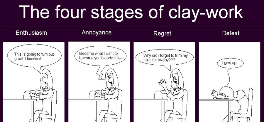 The four stages of clay-work by Holsmetree