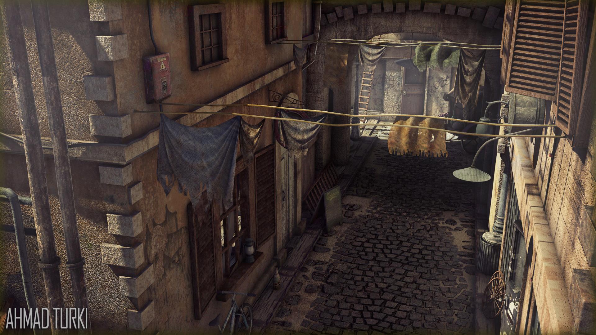 Alley Way Render V02 by AhmadTurk