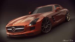 MercedesBnzSLSAMG Render by AhmadTurk