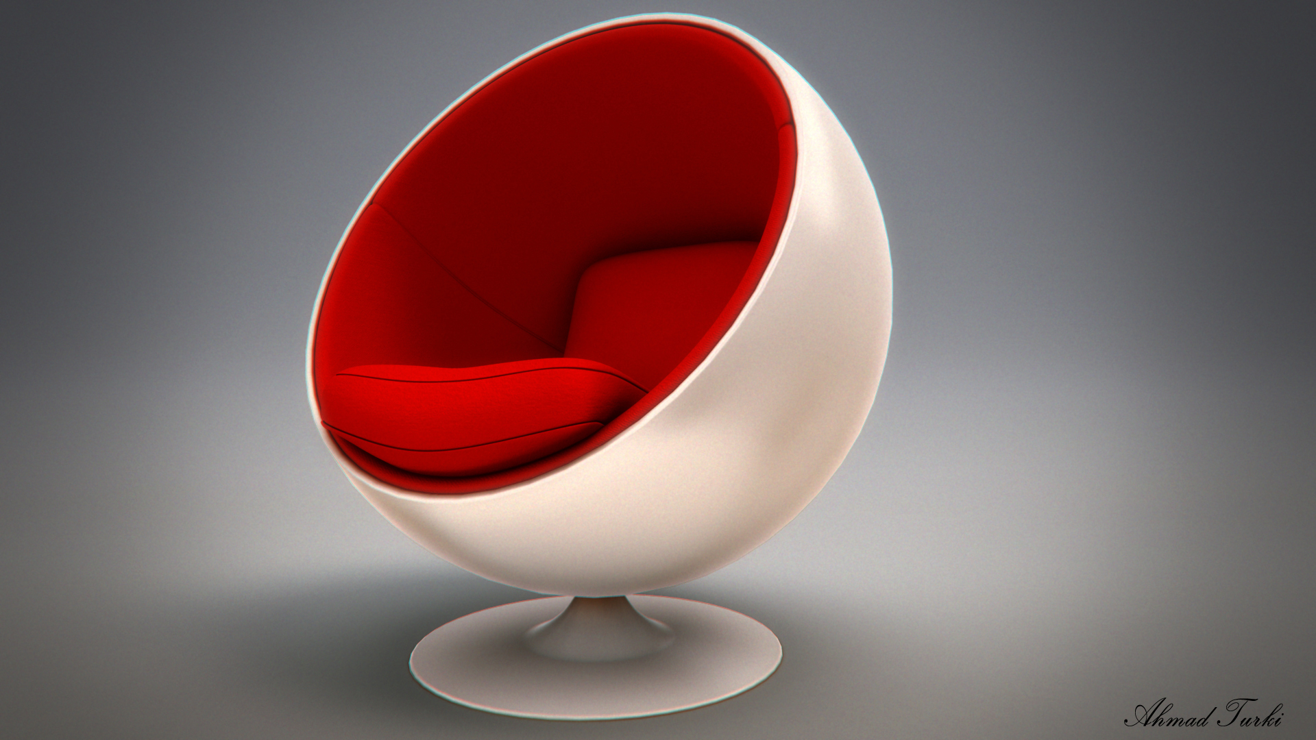 egg chair render v02 by ahmadturk on deviantart. Black Bedroom Furniture Sets. Home Design Ideas