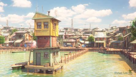 Fishing Village by AhmadTurk