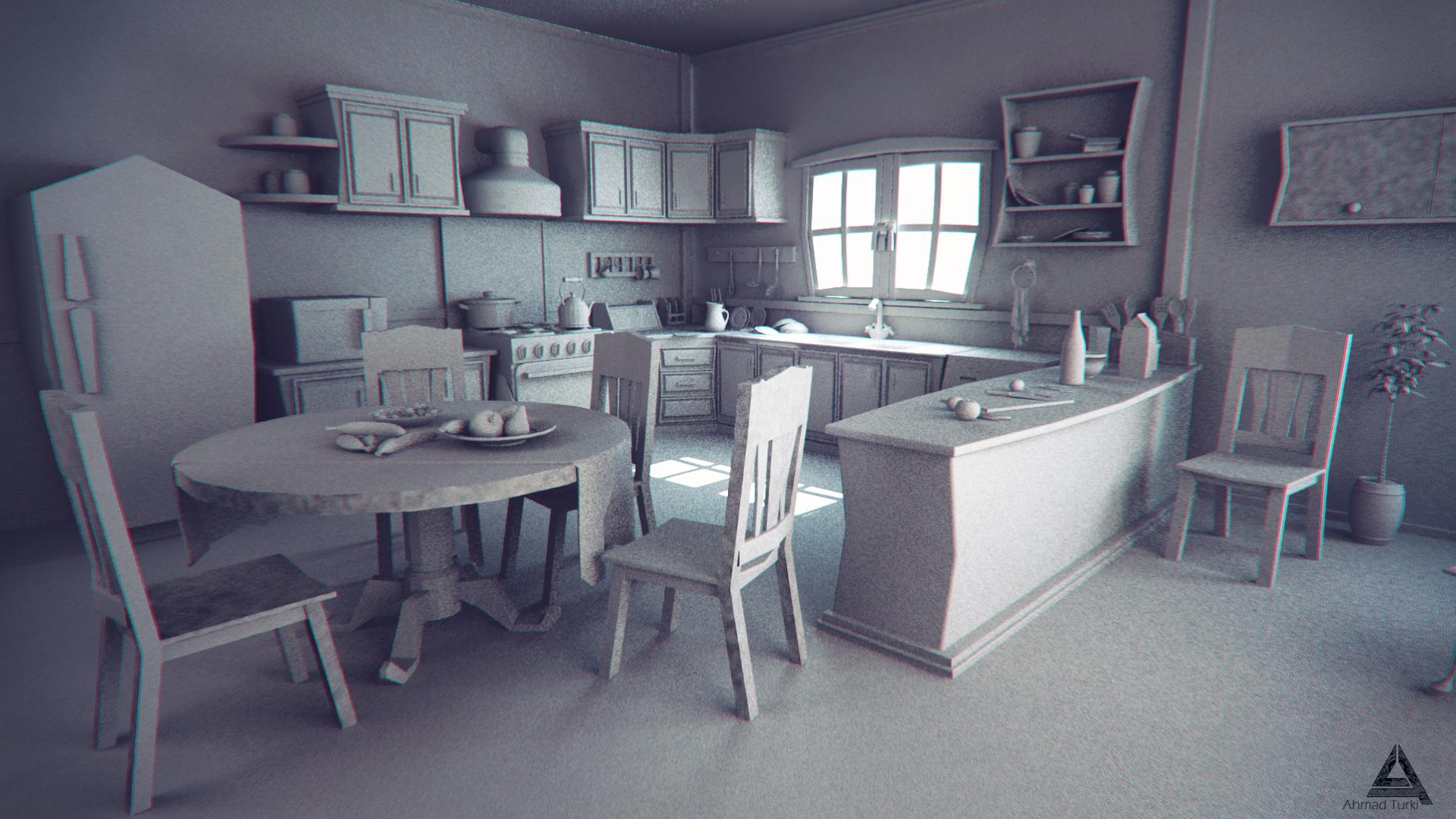 Cartoon kitchen wip by ahmadturk on deviantart for Cartoon kitchen cabinets