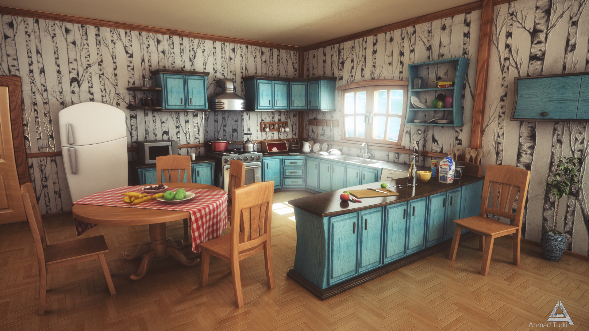 Cartoon kitchen by ahmadturk on deviantart for Kitchen room cartoon images