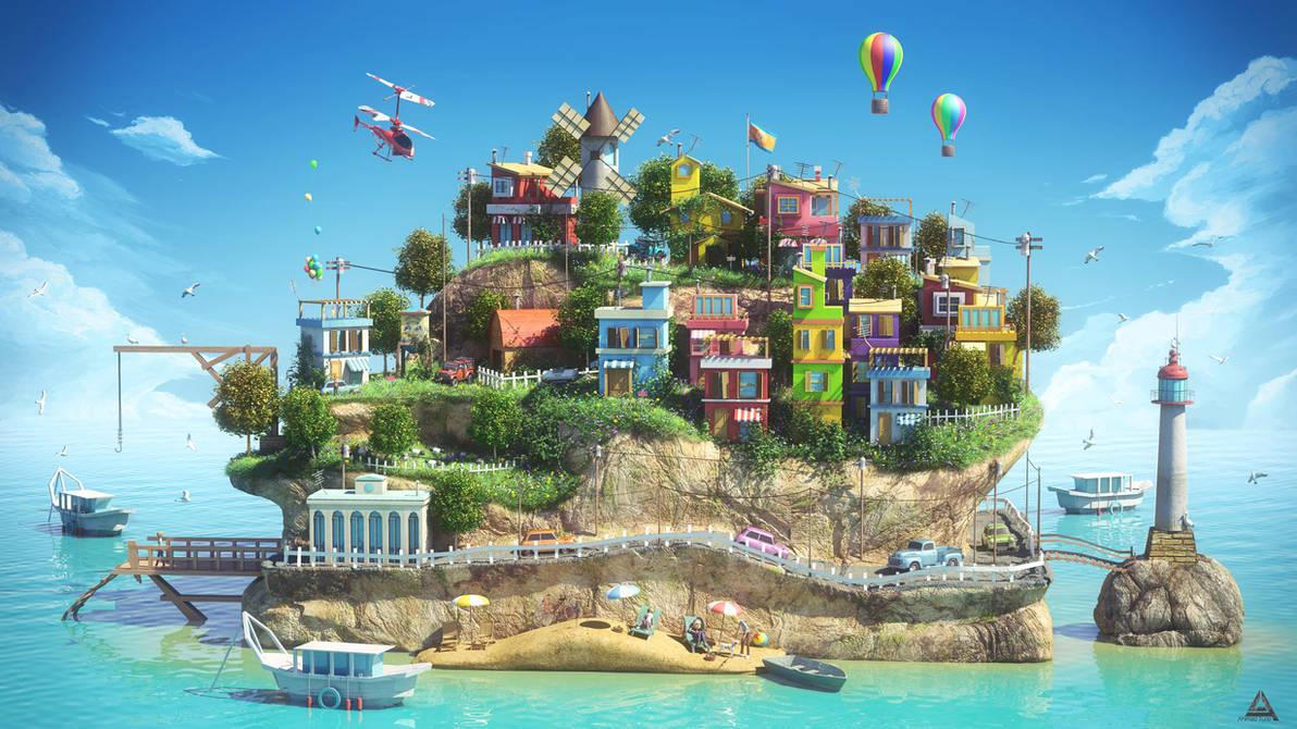 Island by AhmadTurk