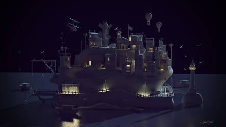 Island Nightshot Wip by AhmadTurk