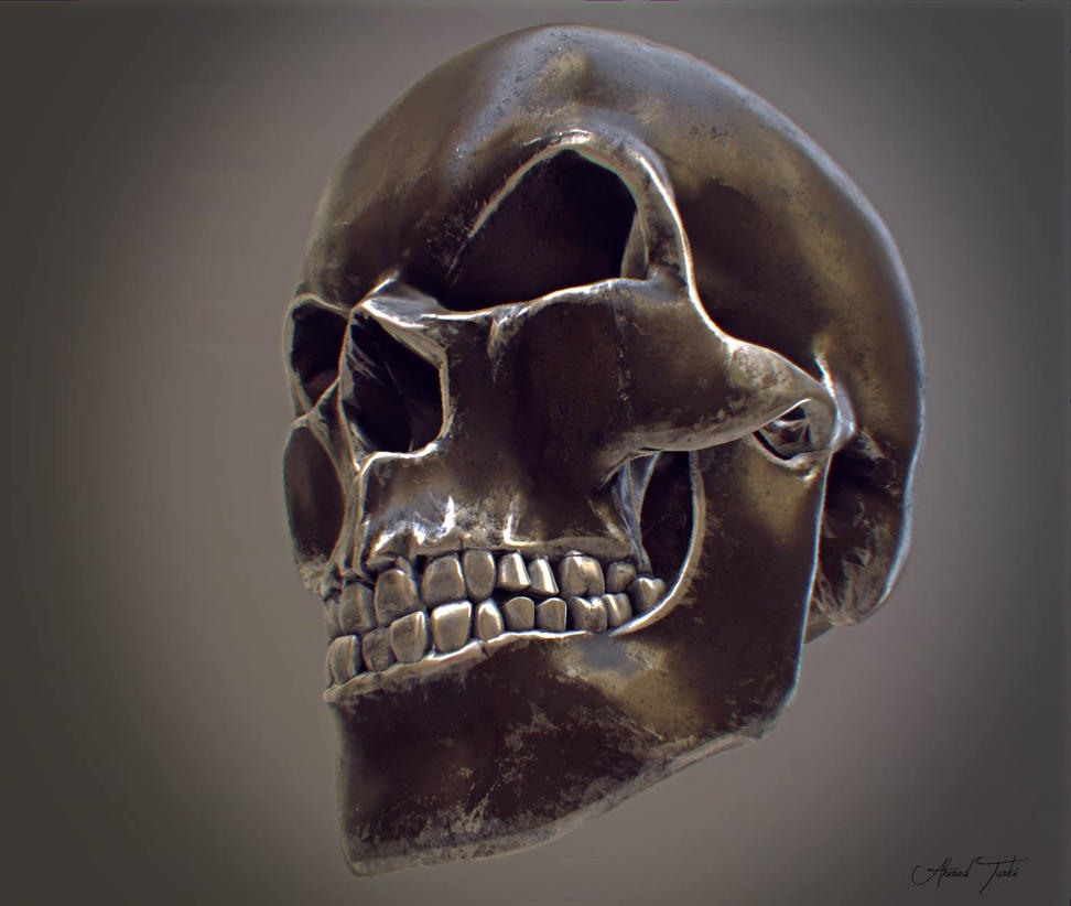 Metallic Skull by AhmadTurk