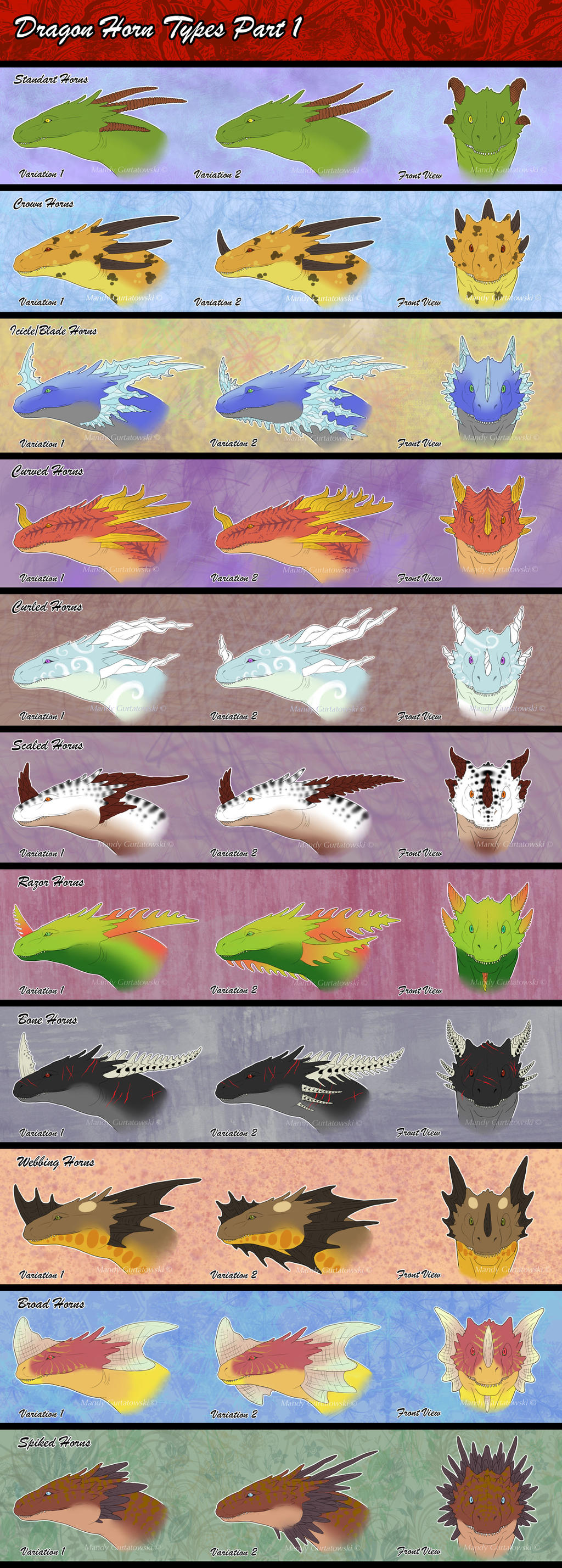 Dragon Horn Types Part1 By Araless On DeviantArt