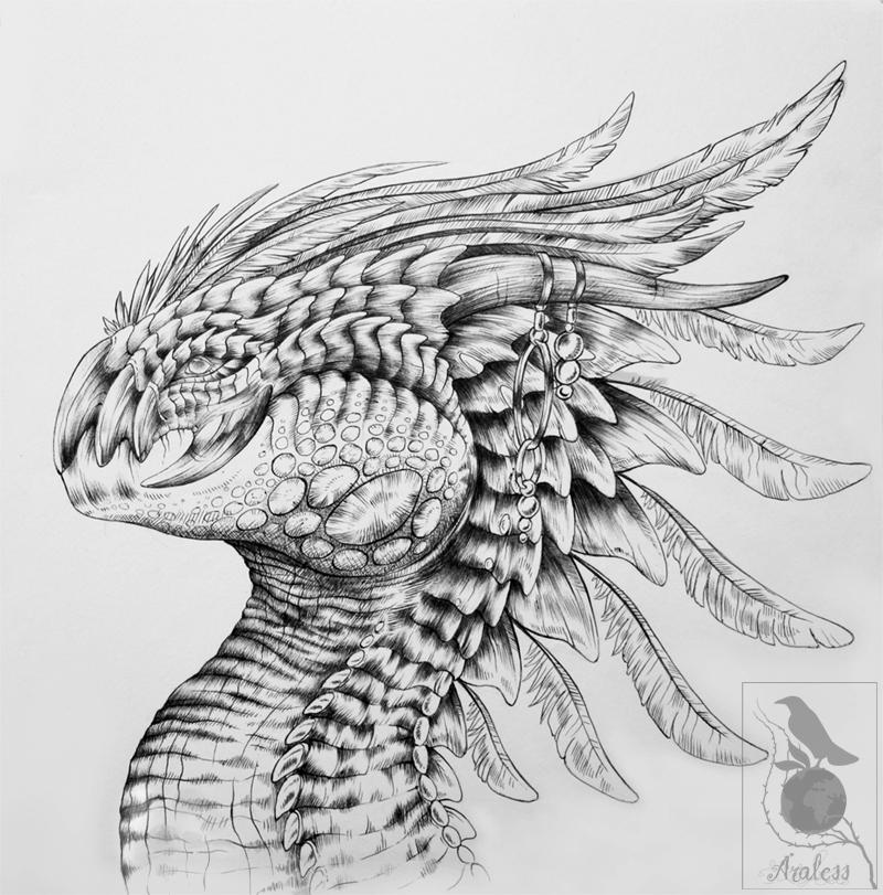 Cockatiel Dragon by Araless
