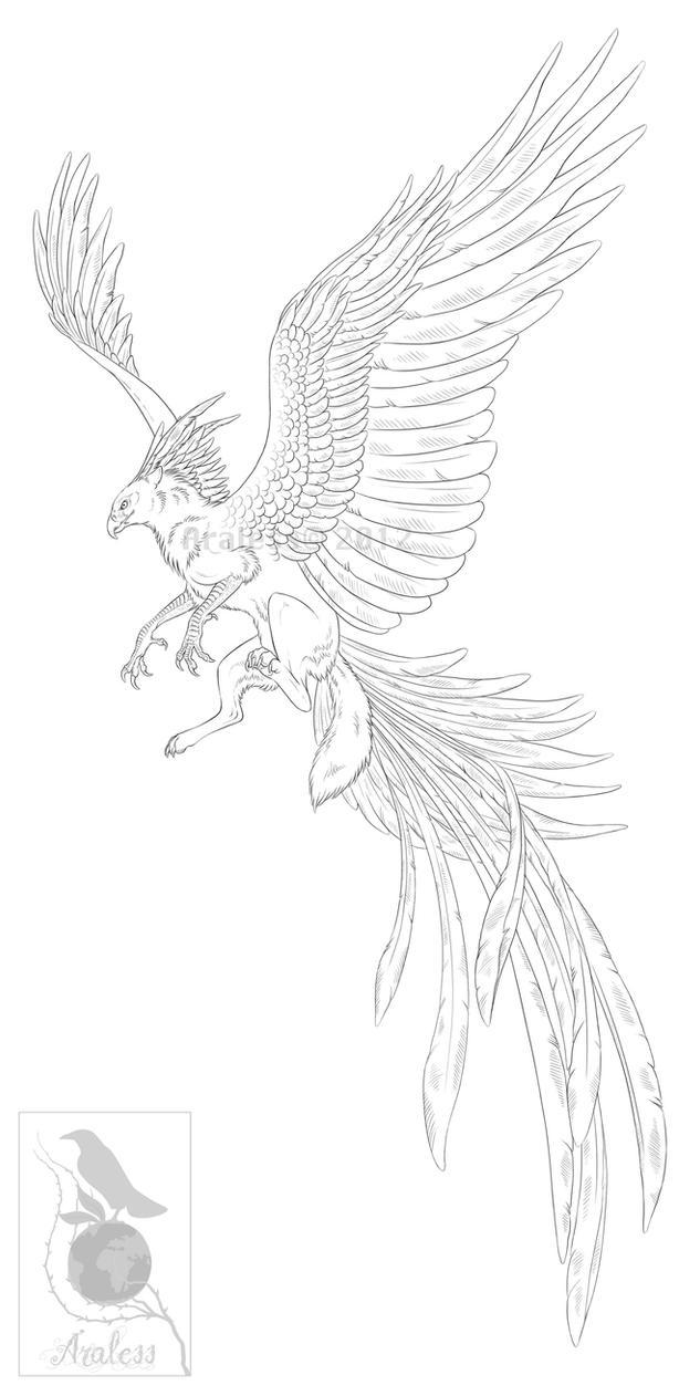 Skyheart -Lineart- by Araless