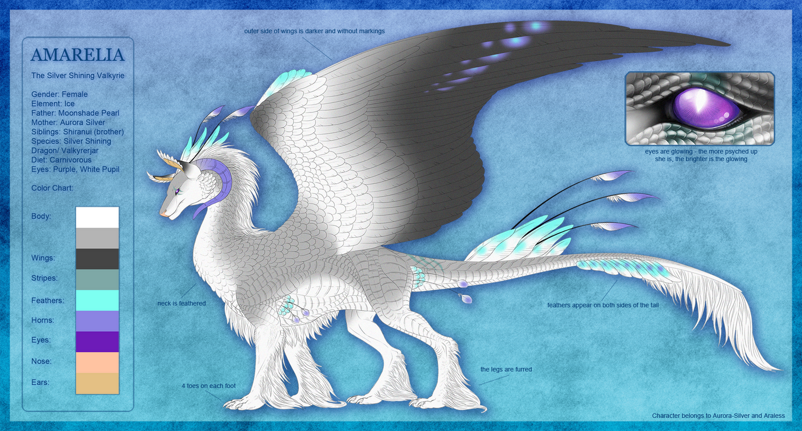 Amarelia Reference Sheet by Araless