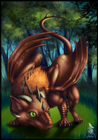 A Wild Forest Dragon Appeared! by Araless