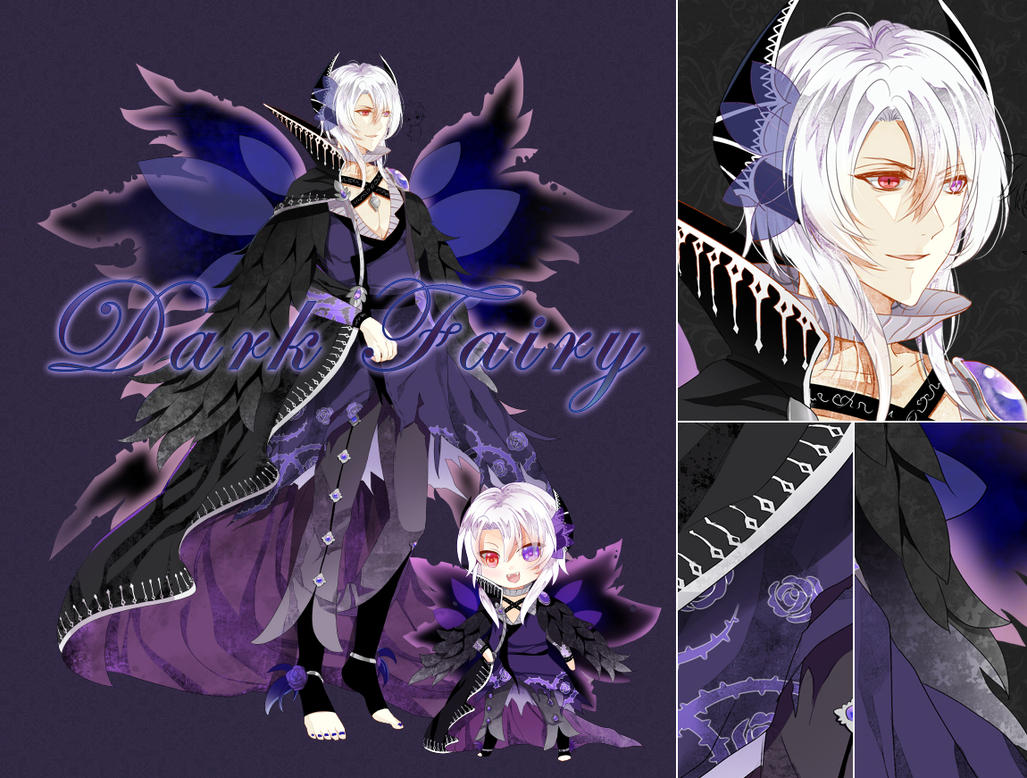 Adoptable - Dark Fairy [CLOSE] [AUCTION] by bunpurr
