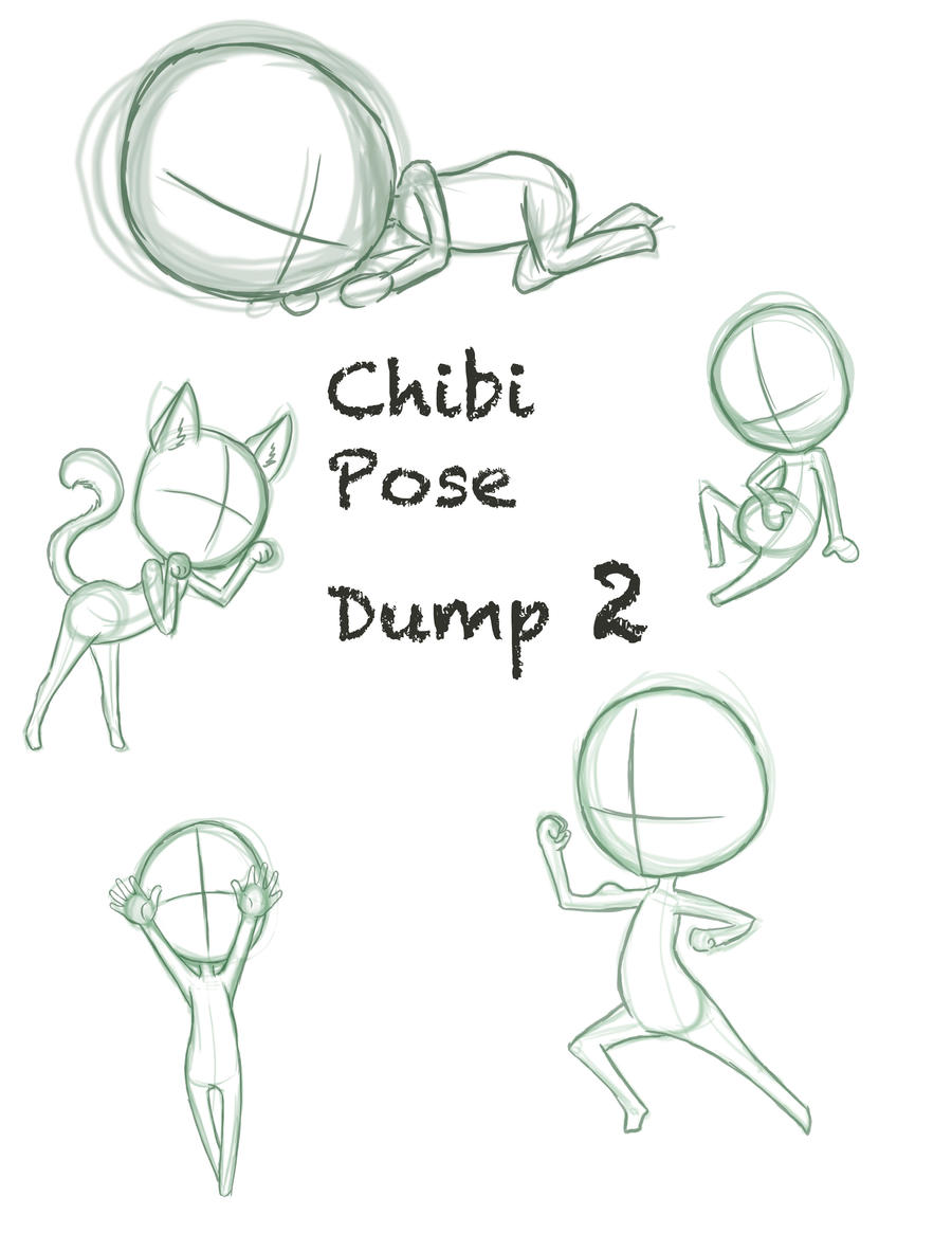 Chibi Pose Dump 2 by ConcreteDreams on DeviantArt