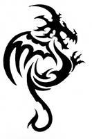 tribal dragon tatoo by nicoleprz