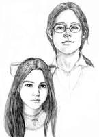 Djaren and Ellea Blackfeather by RuthLampi