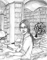 Djaren in the Library by RuthLampi