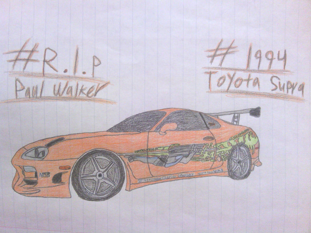PW Tribute Drawing #2: 1994 Toyota Supra by ShiftyGuy1994 ...
