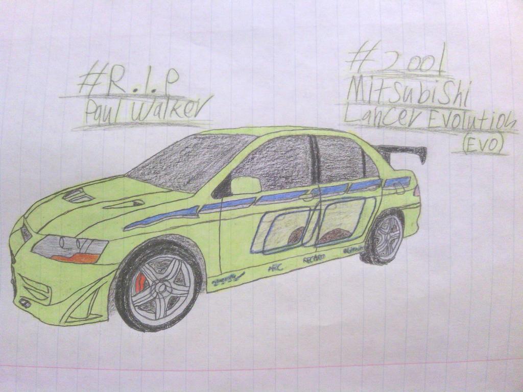 PW Tribute Drawing (FINAL): 2001 Mitsubishi Evo 7 by ShiftyGuy1994 ...