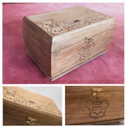 Tsum Tsum Pyrography box by StudioTamago