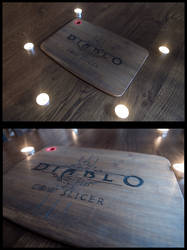 Diablo 3 Cow slicer cutting board