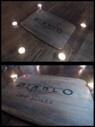 Diablo 3 Cow slicer cutting board by StudioTamago