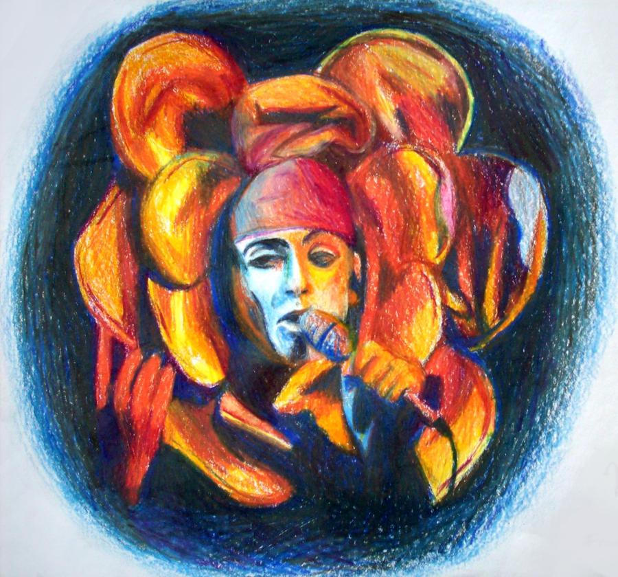 Peter Gabriel by Clockinthesky