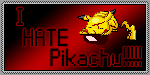 I HATE Pikachu Stamp by pyroasta