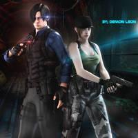 #Leon x Jill _V2 by DemonLeon3D
