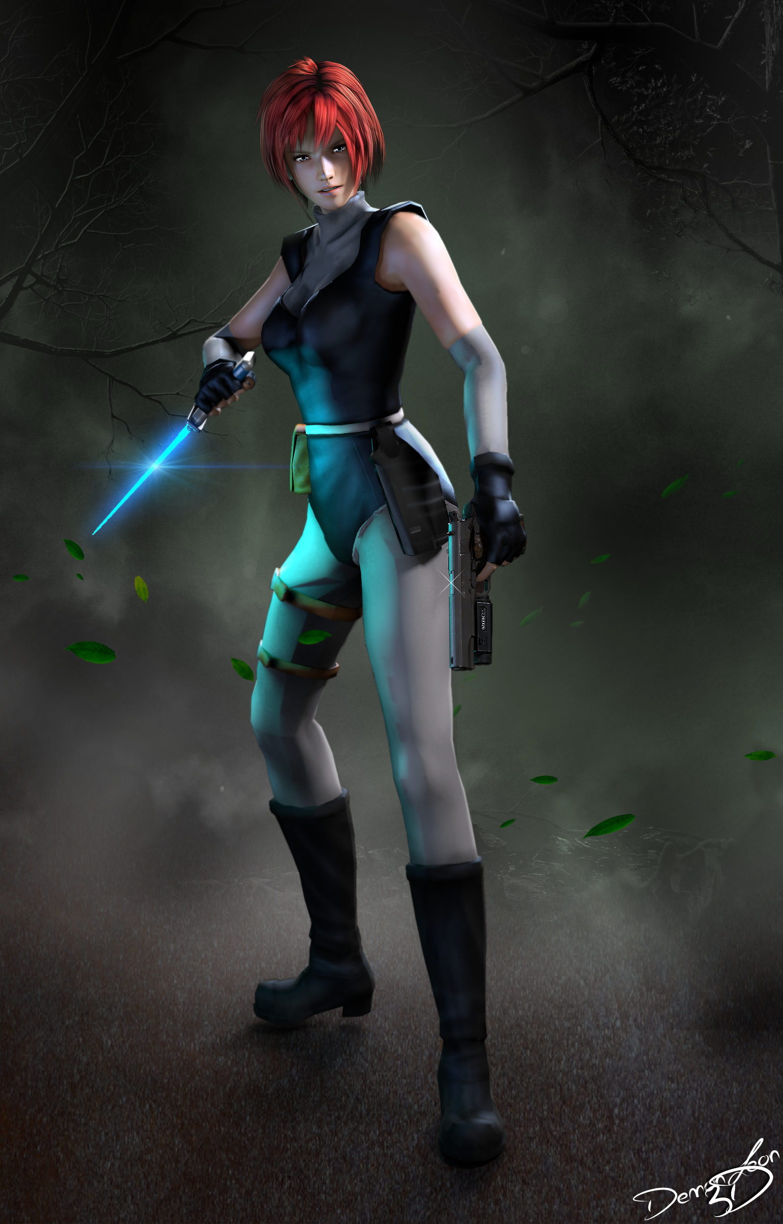 #Dino Crisis - Regina by DemonLeon3D on DeviantArt