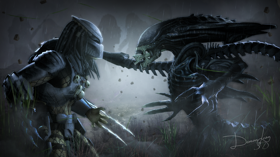 aliens vs predator drawings - photo #3
