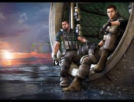Alternate-Ending... Chris x Piers Escape by DemonLeon3D