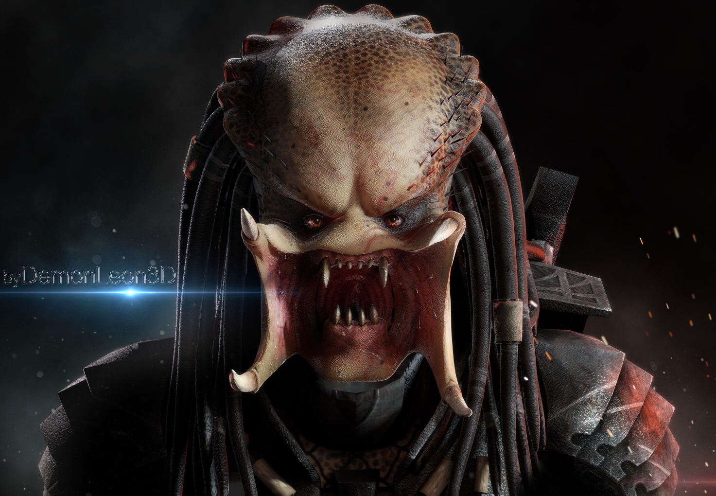 the Predator's Face by DemonLeon3D on DeviantArt