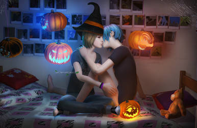 Halloween Max x Chloe by DemonLeon3D