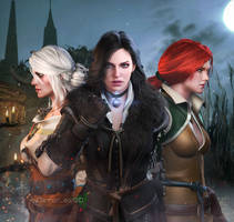 The Witcher - Ladies by DemonLeon3D