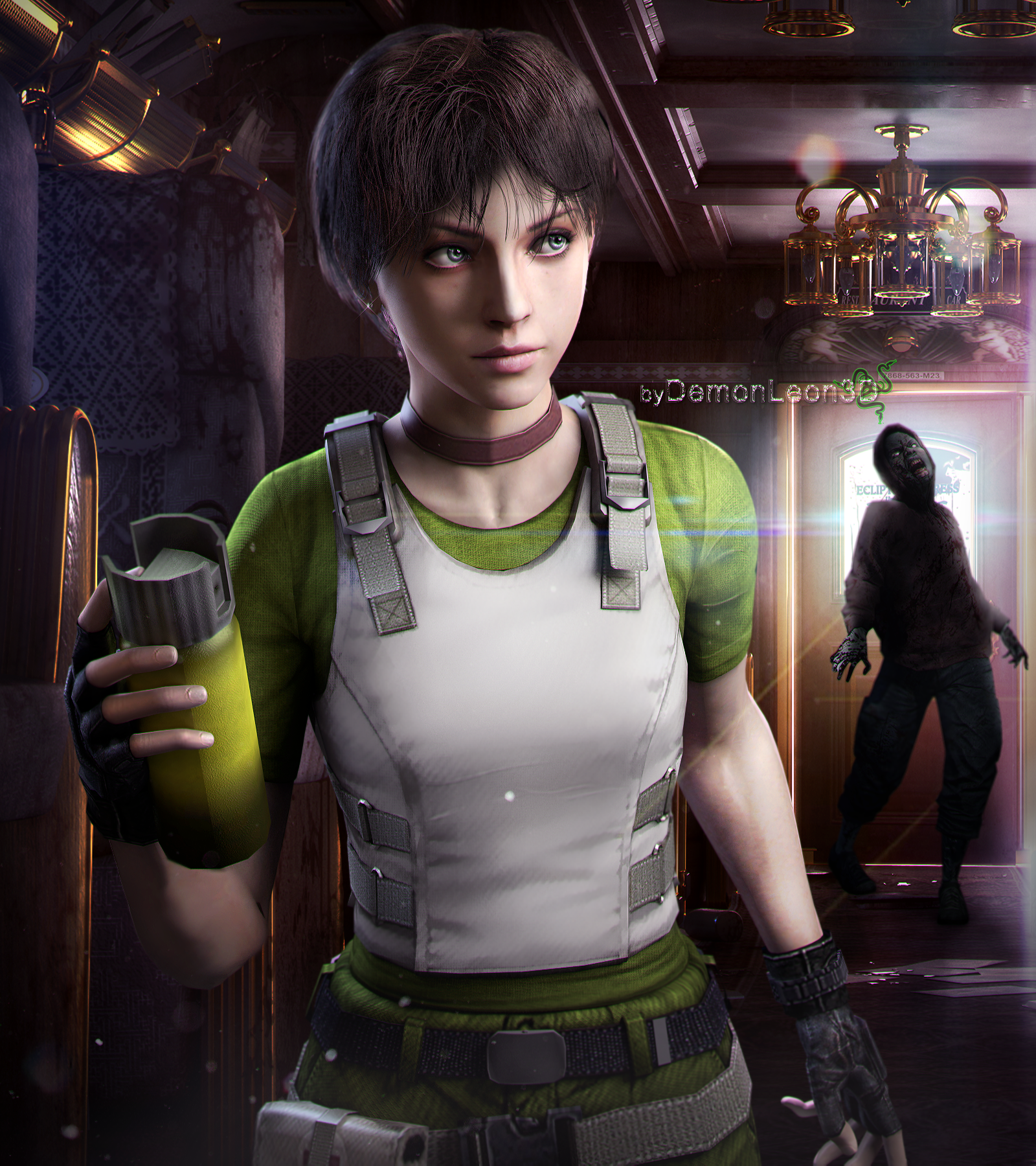 By Chambers: Rebecca Chambers HD By DemonLeon3D On DeviantArt