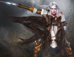 The Witcher - Ciri by DemonLeon3D