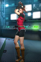 COMMISSION - Claire RE2 Classic by DemonLeon3D