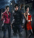 RE2 REMAKE - Claire x Leon x Ada