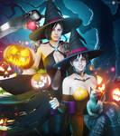 Commission Halloween Jill x Rebecca
