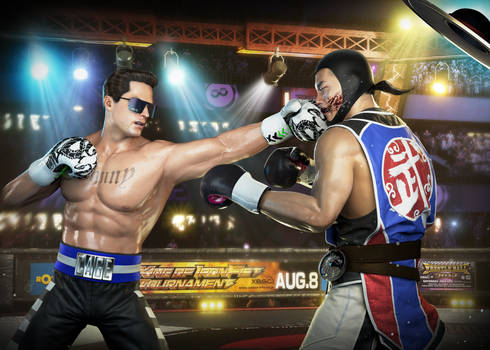 Commission Johnny Cage vs Kung Lao