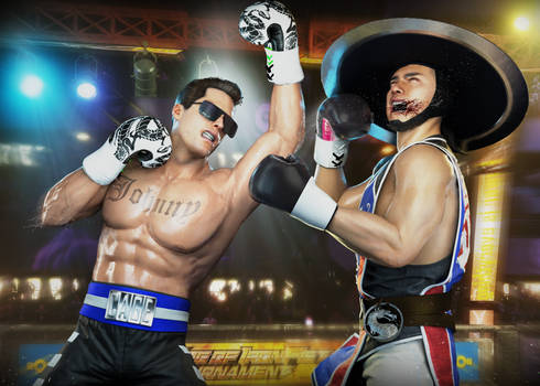 Commission Johnny Cage vs Kung Lao P2